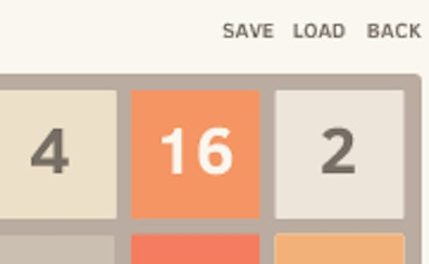 2048 Save Progress