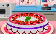 Baking Strawberry Cake