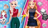 Elsa and Rapunzel Princess Rivalry