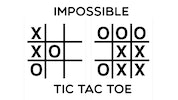 Impossible Tic-Tac-Toe
