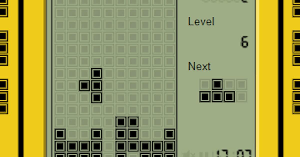 Good Old Tetris Mainkan Di Online Game