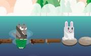 Blocky Rabbit Jumping